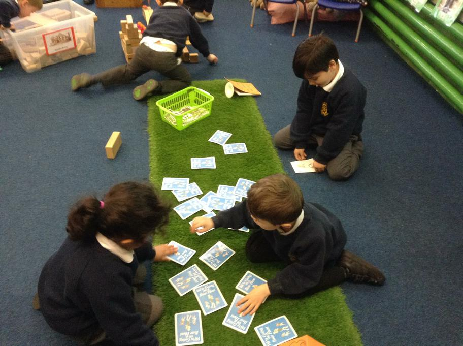 Matching the story pictures