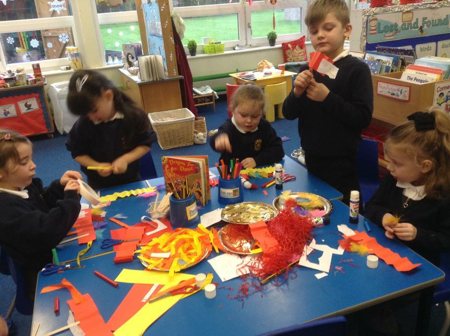 Making Chinese dragons