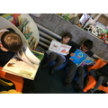 Mr Happy's group reading in the book corner