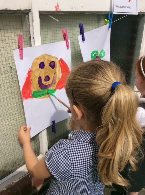 Jessica paints Supertato