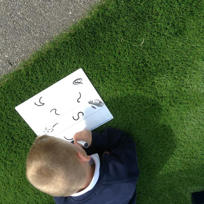 Theo writing his letters.