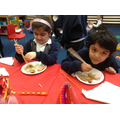 zachariah said the noodles were yummy!