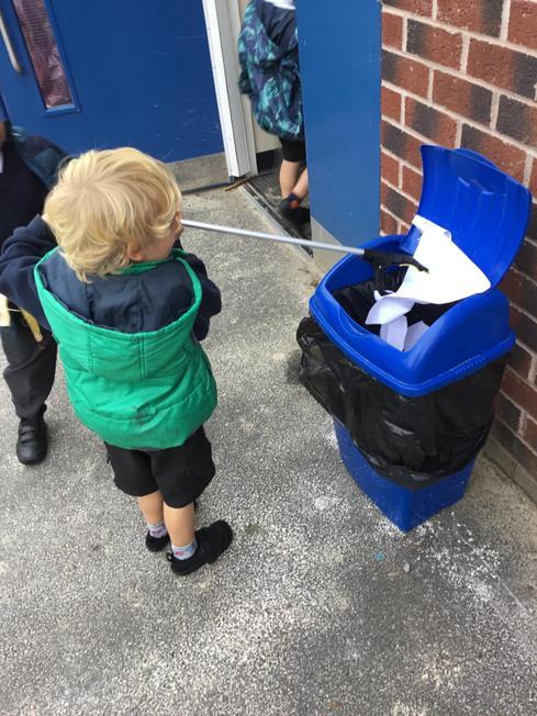 Eco Eddie Sol keeping our school clean