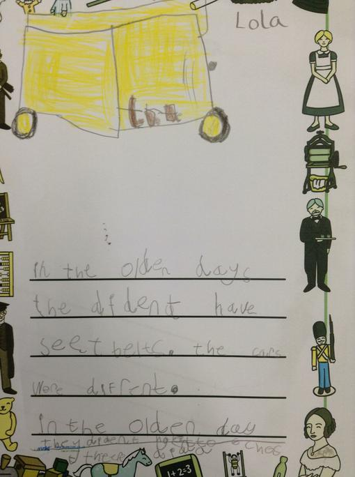 Lola's independent writing