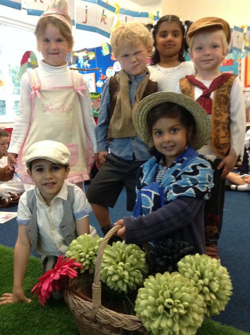 Baker Franke, Flower Girl & the victorian children