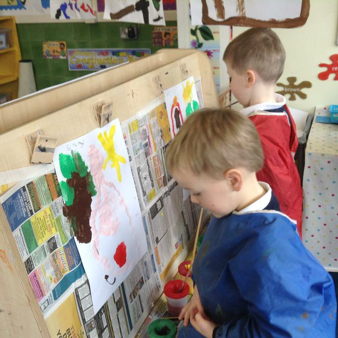 Painting pictures about the story