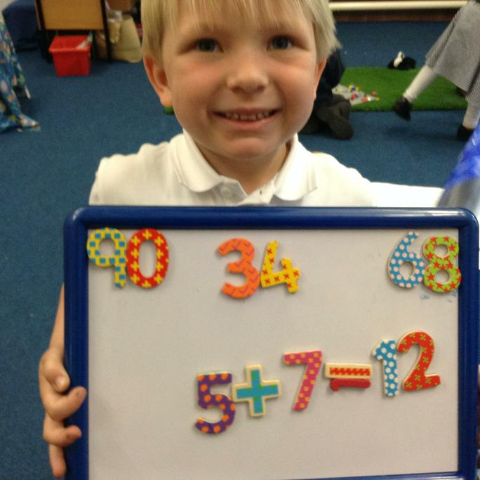 Alex shows he can add two digits