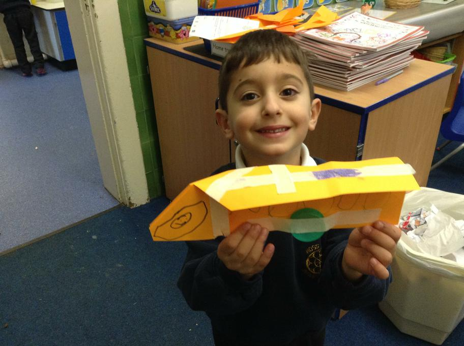 Lorenzo made a fantastic plane