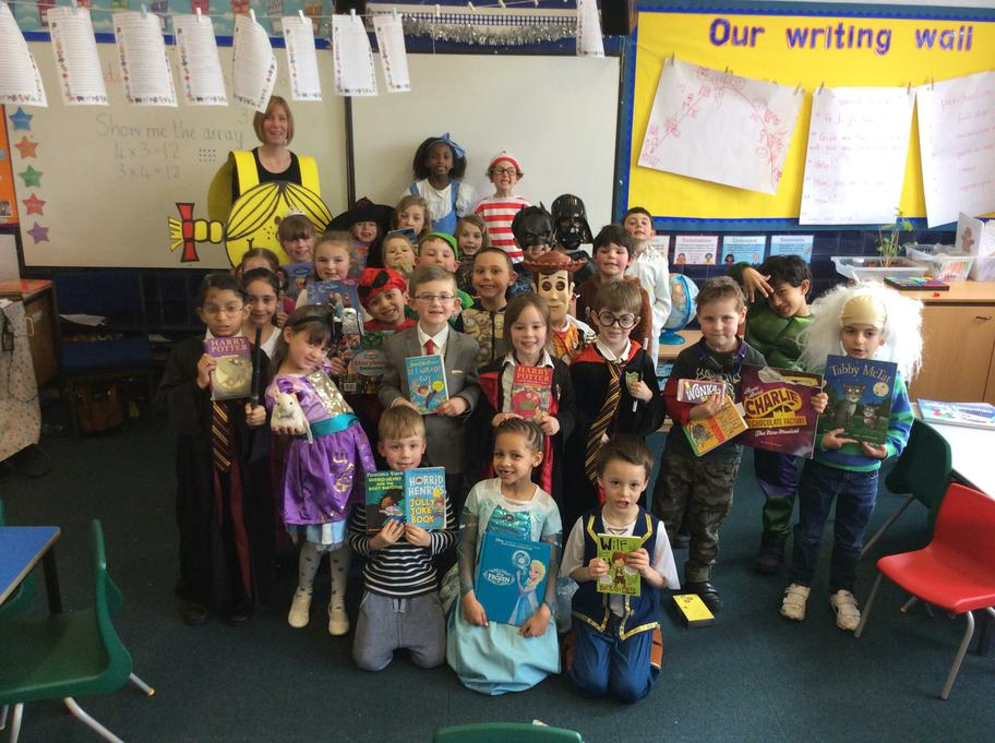 We all dressed up as characters from books.