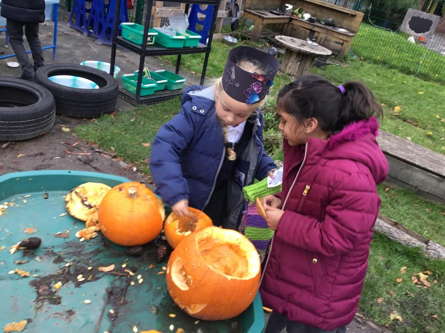 Pumpkins to compost