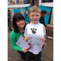 Finlay and his mum Year 1
