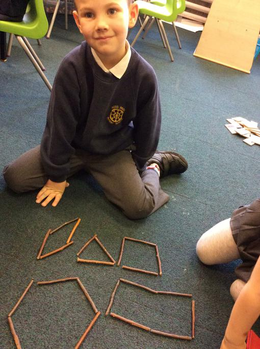 Which shapes has he made?