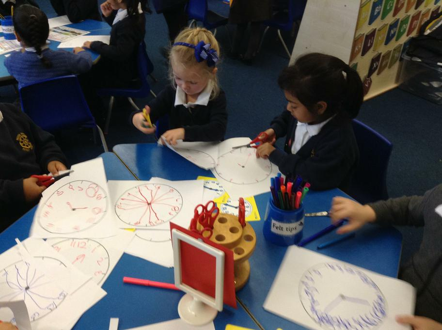 Clock making we wrote our numbers very carefully