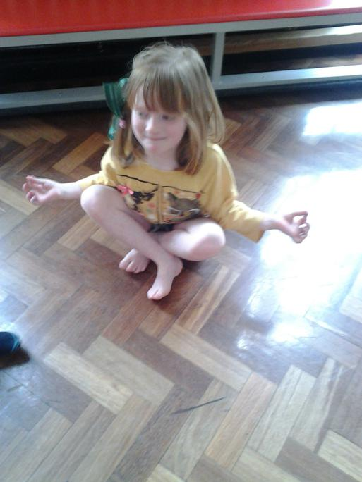 Yoga comes from India.  We learnt some yoga poses!