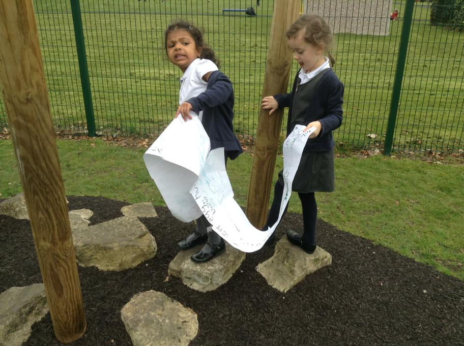 Following the map to find the eggs!