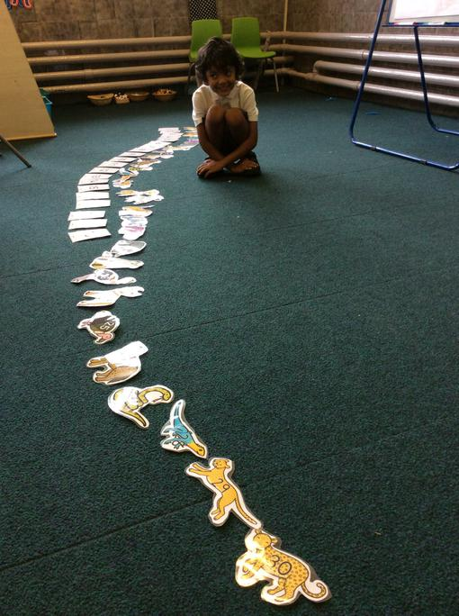 Zachariah ordered all the animal numbers from 0-30