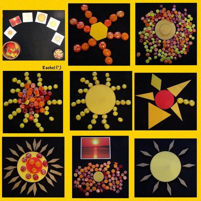 Can you use objects to make a sun picture?