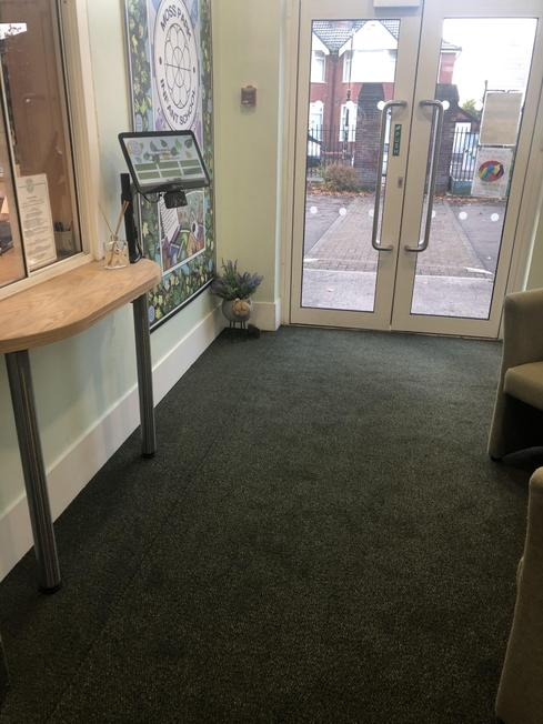 Our new entrance
