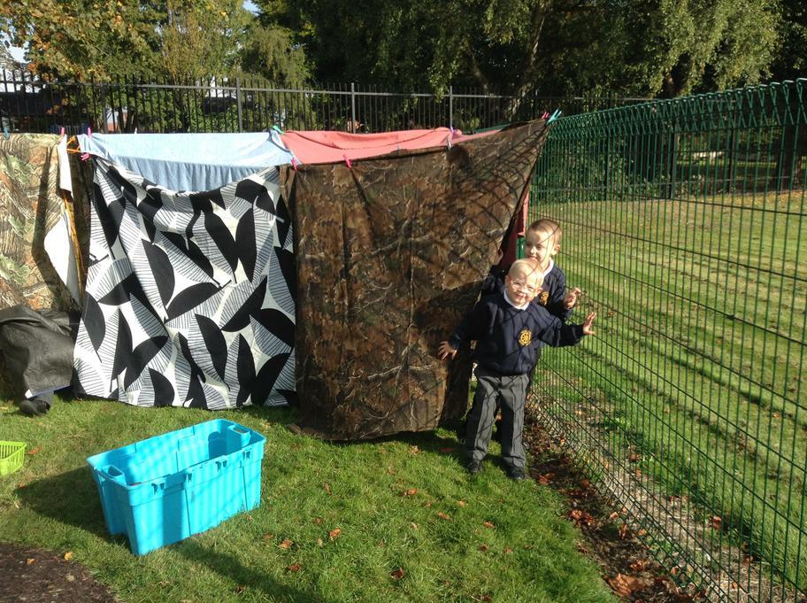We made a secret hideout!