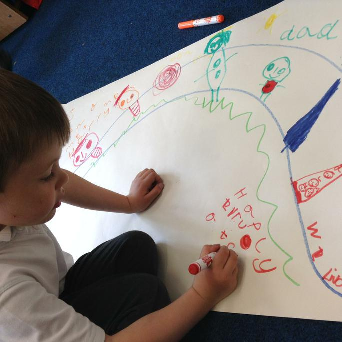 Lucas makes his own story map