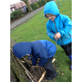 we made mini dens in the park