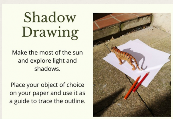 Can you use the sun to make a shadow picture?