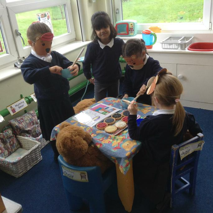 Acting out Goldilocks and the Three Bears