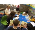 Mr Bump;s group read with the teacher