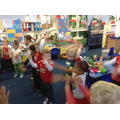 Practising the Mexican wave