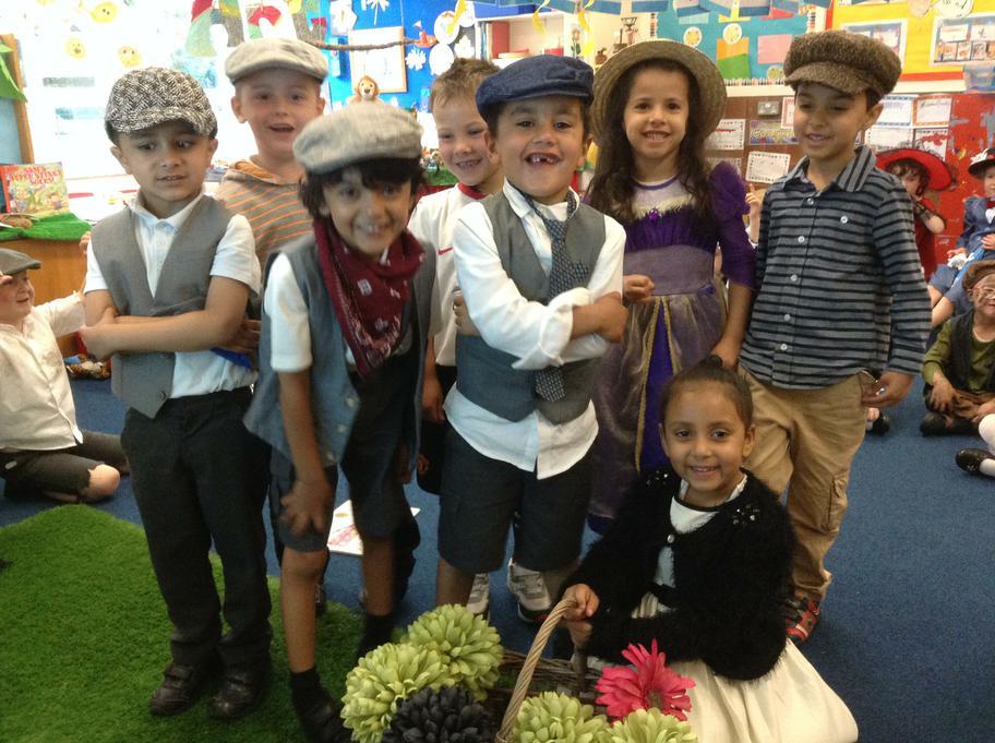 The victorian children & the flower girl
