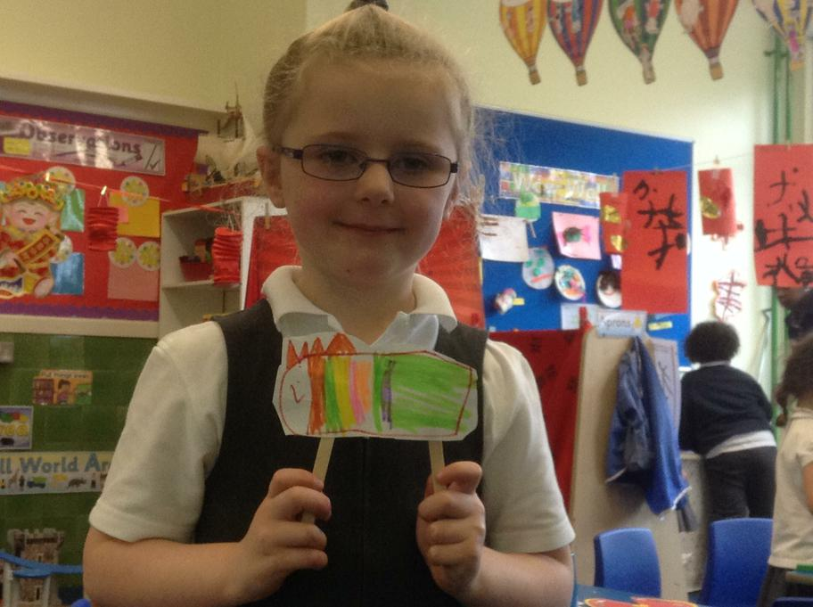 Darcy made her own Chinese Dragon