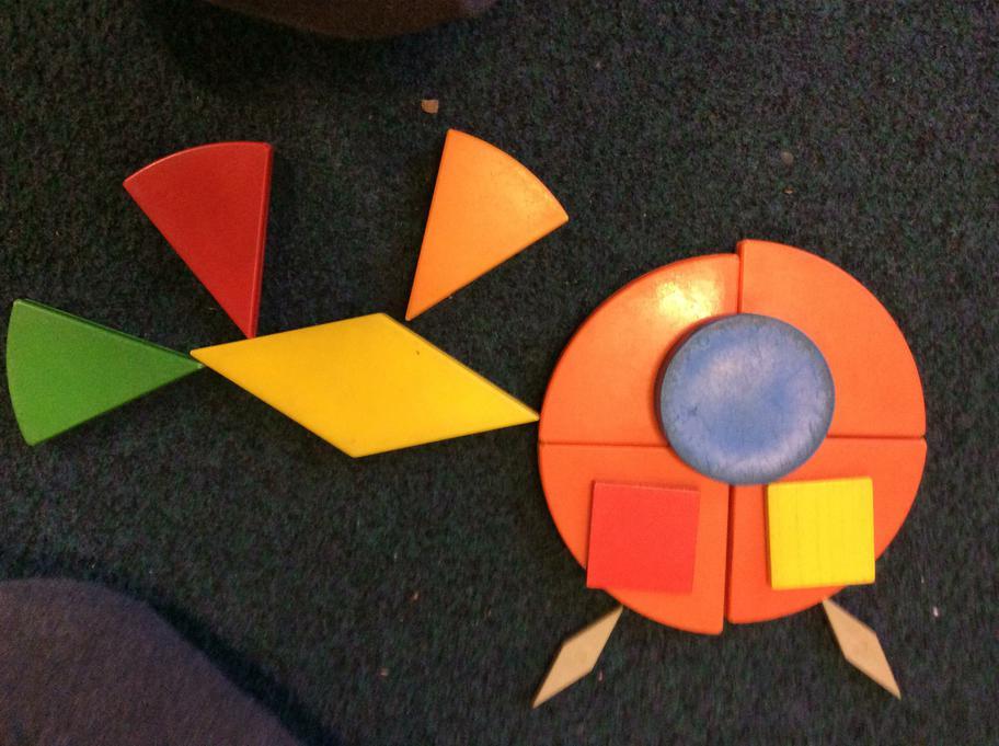 Thomas made a shape donkey!