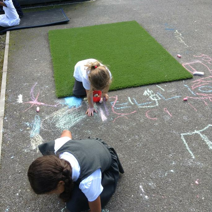 Drawing our letters!