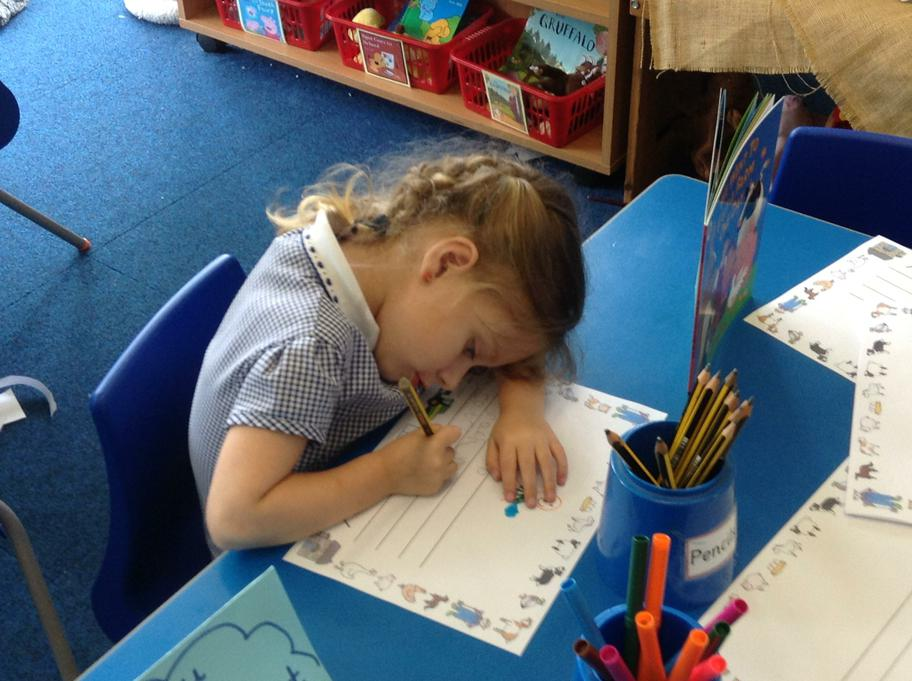 Writing facts about farm animals