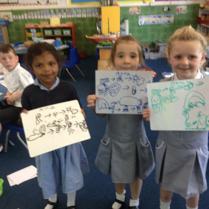 Ama's, Anna's and Darcy's story map
