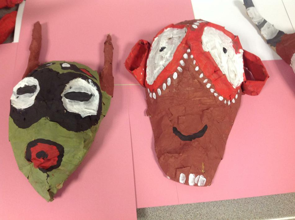Year 5 African Masks