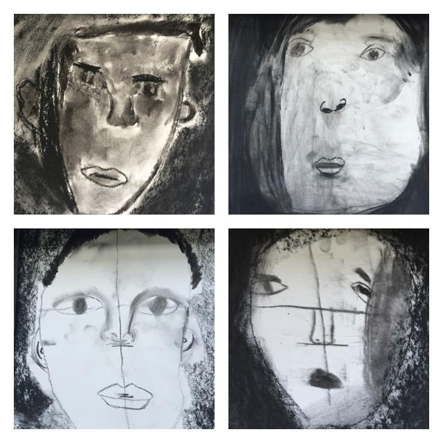 Year 3 Portraits in Charcoal