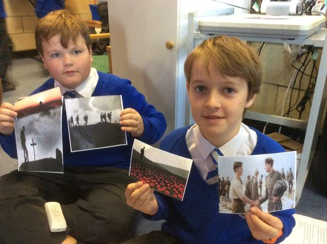 We chose images to support our poems.