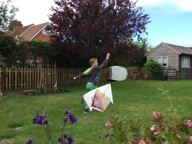 Harry and his homemade kite!