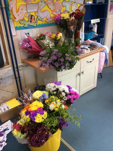 Our wonderful donated flowers!