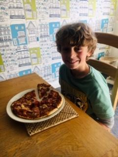 Oliver's home made pizza