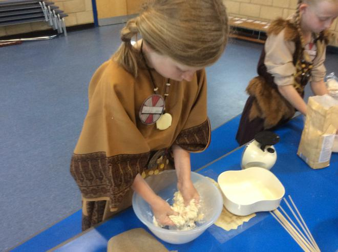 Making Viking bread