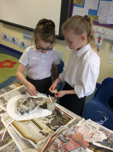 We began making our Egyptian Death Masks!