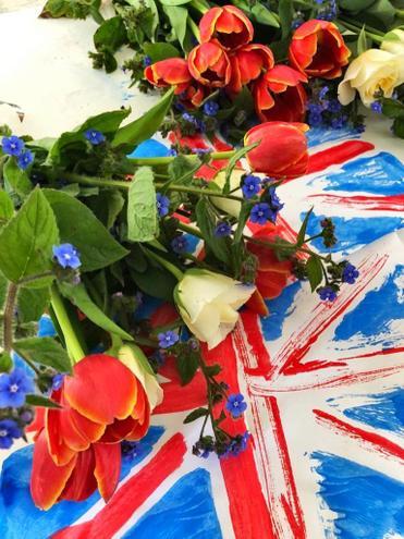 Bertie's VE day flower arrangements