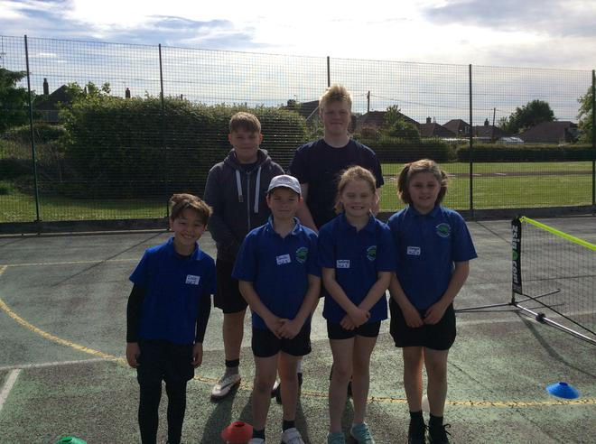 With our Year 9 helpers.