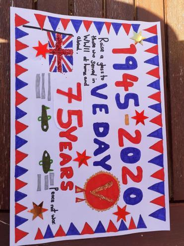 Millie's VE day poster