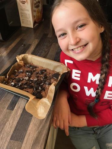 Katie doing some yummy baking!