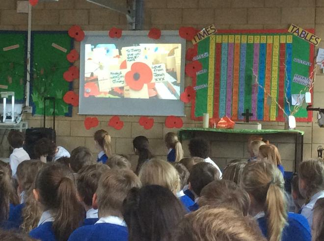 We showed a video about why we wear poppies.
