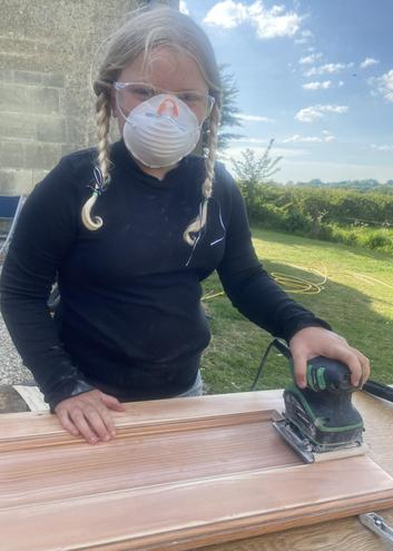 Isabella helping with Home Improvements