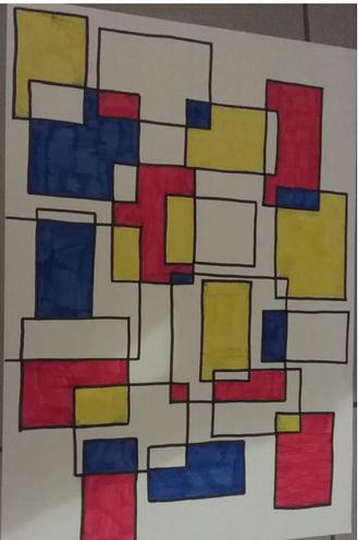 Millie's Piet Mondrain art